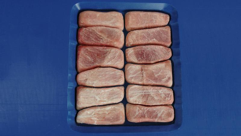 Frozen pork nuggets